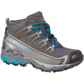 La Sportiva Falkon GTX Shoes Kids carbon/tropic blue